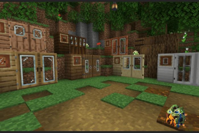Glass Door Texture Pack Minecraft Pe Textures